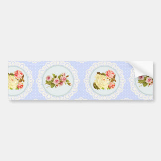 Lace Victorian Floral pattern Bumper Sticker