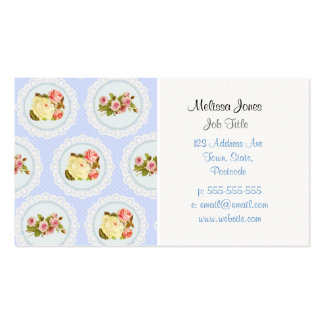 Lace Victorian Floral pattern Double-Sided Standard Business Cards (Pack Of 100)