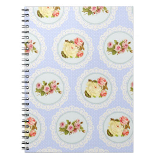 Lace Victorian Floral pattern Notebook