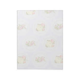 Lace Victorian Floral pattern Notepad