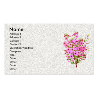 Lace & Waxflowers Profile Card Pack Of Standard Business Cards