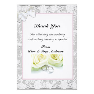 Lace Wedding thank You Announcements