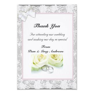 Lace Wedding thank You 9 Cm X 13 Cm Invitation Card