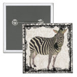 Lace Zebra Button
