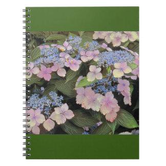 Lacecap Hydrangea Spiral Notebook