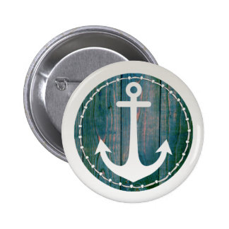 Laced Anchor 6 Cm Round Badge