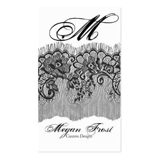laced customize your monogram pack of standard business cards
