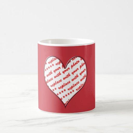 Laced Heart Photo Frame Mugs