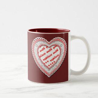 Laced Heart Photo Frame Template Mugs