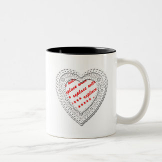 Laced Heart Shaped Photo Frame Template Mugs