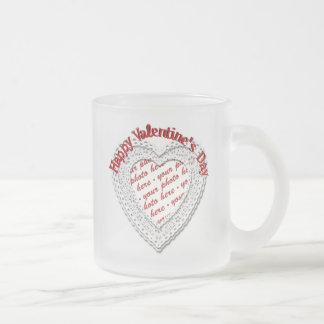 Laced Heart Shaped Valentine Photo Frame Mug