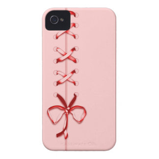 Laced Up Red Ribbon iPhone 4 Cases