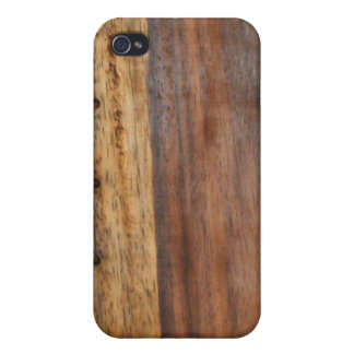 Laced Up Wood Grained iPhone Case Case For iPhone 4
