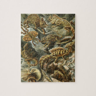 Lacertilia by Ernst Haeckel Vintage Lizard Animals Jigsaw Puzzle