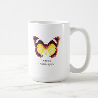 Lacewing Butterfly with Name Coffee Mugs