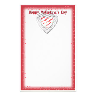 Lacey Heart Shape Frame Stationery Design