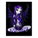 Lacey Purple Glitter Faery Postcard