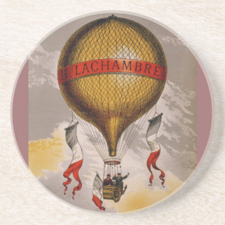 Lachambre Balloon - Vintage Early Flight Coasters