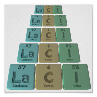 Laci as Lanthanum Cerium Iodine Poster