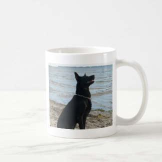 Lacquer Black German Shepherd Coffee Mug
