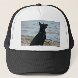 Lacquer Black German Shepherd Trucker Hat