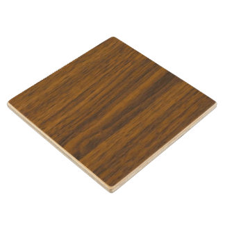 Lacquer coated stain resistant wood coaster