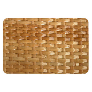 Lacquer Wicker Basketweave Texture Look Rectangular Photo Magnet