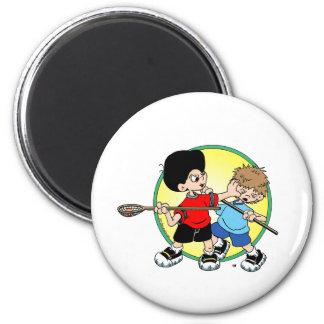 Lacrosse #2 6 cm round magnet