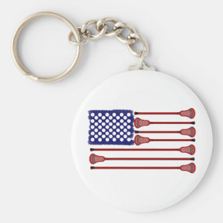 Lacrosse AmericasGame Basic Round Button Key Ring