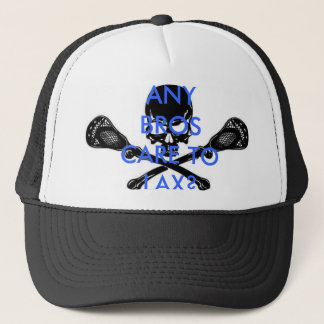 lacrosse, ANY BROS CARE TO LAX? Trucker Hat