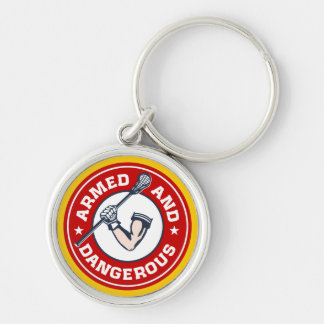 Lacrosse Armed and Dangerous Keychain