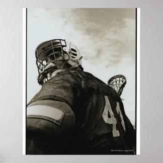 Lacrosse Athlete Poster