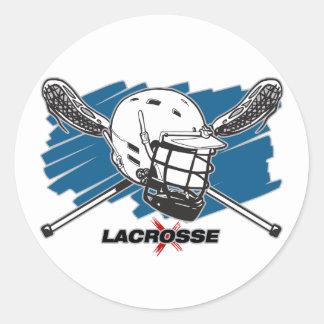 Lacrosse Attitude Round Stickers