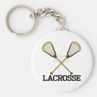 Lacrosse Basic Round Button Key Ring