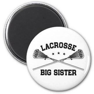 Lacrosse Big Sister 6 Cm Round Magnet