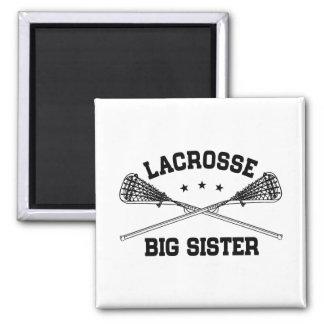 Lacrosse Big Sister Square Magnet