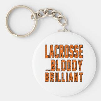 Lacrosse Bloody Brilliant Keychain