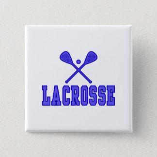 Lacrosse blue 15 cm square badge