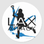 Lacrosse Boys LAX Attack Blue Stickers