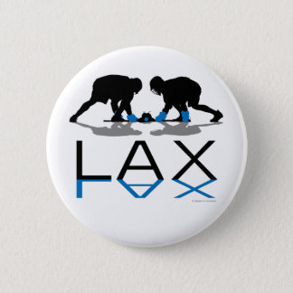 Lacrosse Boys LAX Blue 6 Cm Round Badge