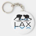 Lacrosse Boys LAX Blue Key Chain