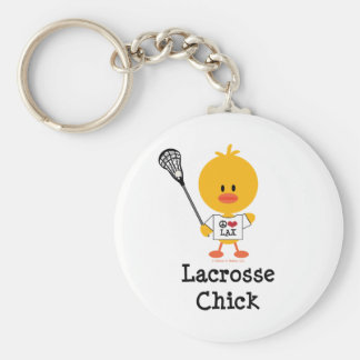 Lacrosse Chick Keychain
