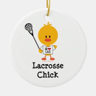 Lacrosse Chick Ornament