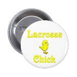 Lacrosse Chick Pinback Buttons
