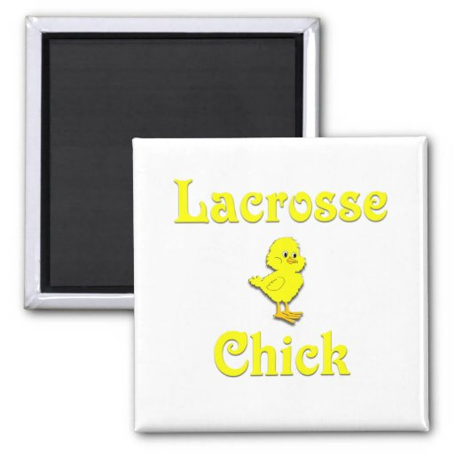 Lacrosse Chick Square Magnet