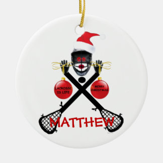 Lacrosse Christmas Cartoon Christmas Ornament