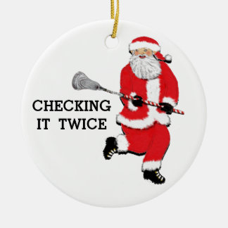 Lacrosse Christmas Collectible Christmas Ornament