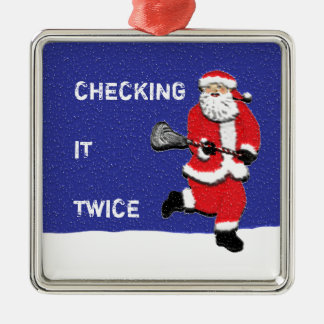 Lacrosse Christmas Ornament