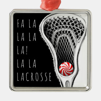 Lacrosse Christmas Silver-Colored Square Decoration