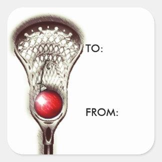 Lacrosse Christmas Square Sticker